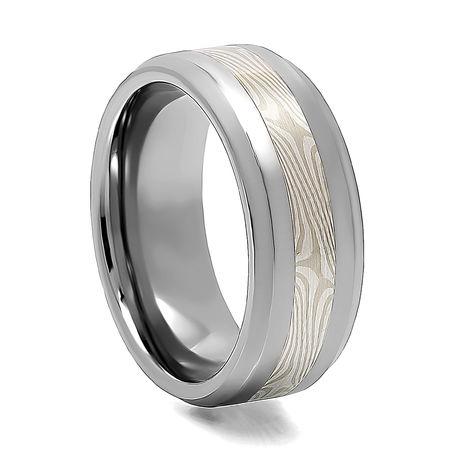 SIBERIAN Tungsten Mokume Gane Inlay Ring
