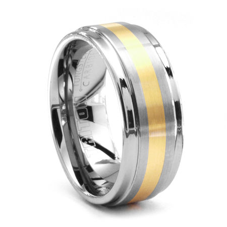 TRITON Tungsten & 18K Gold Ring Dorado