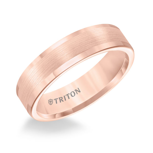 Rose Tungsten 6mm Flat Ring by Triton