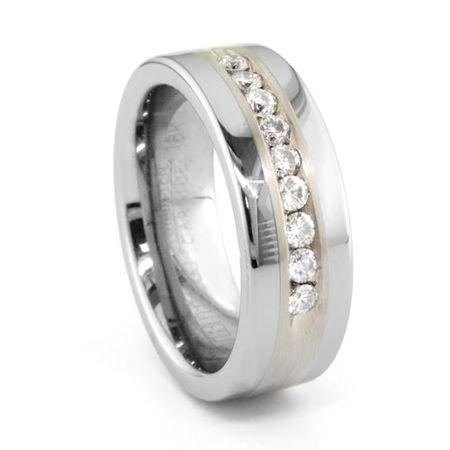 Tungsten Diamond Ring - MINERVA