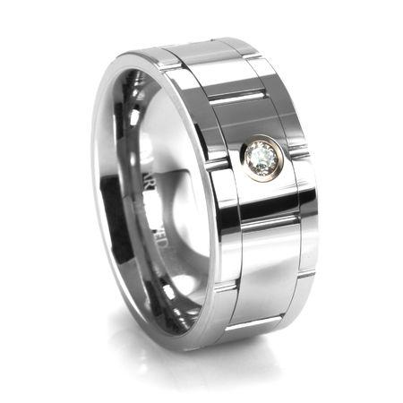 MONACO Tungsten & Diamond Ring by ArtCarved