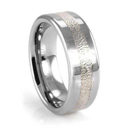 KADEN Tungsten & Silver Ring by TRITON