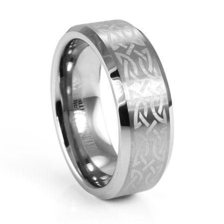 GAELIC Celtic Design Tungsten Carbide Ring by TRITON