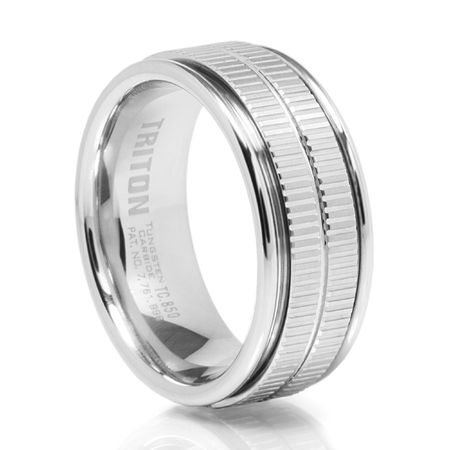 TRAXX  WhiteTungsten Carbide Ring by Triton