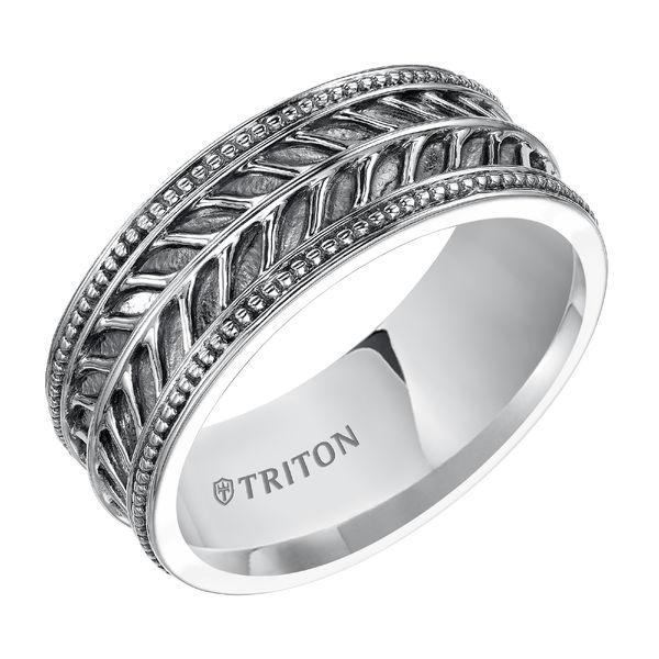 Triton Sterling Silver Leaf Design Ring