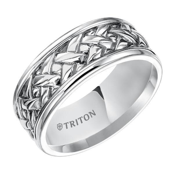 Triton Sterling Silver Basketweave Design Ring