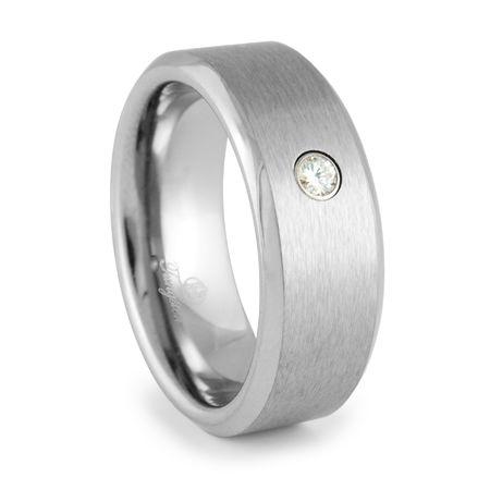 JAEGER Tungsten and Diamond Heavy Stone Ring