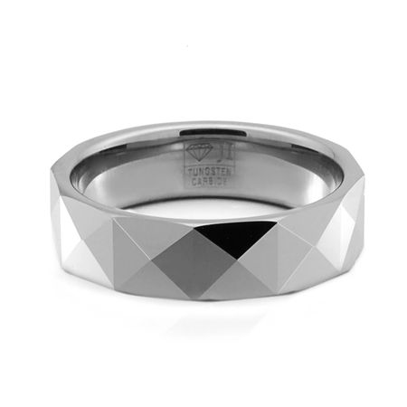 DISCO Faceted Tungsten Ring Jewelry Innovations Mens Wedding Bands