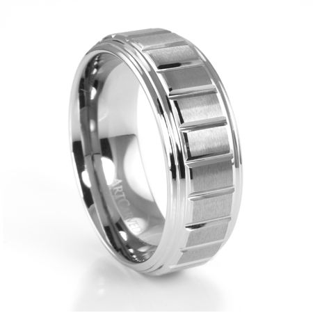 LANDON Tungsten Ring by ArtCarved