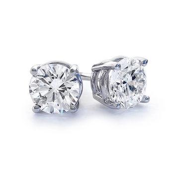1/2ct Diamond Stud Earrings, VS clarity, H color