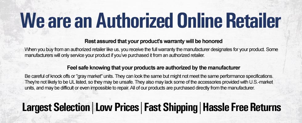 Authorized online retailer