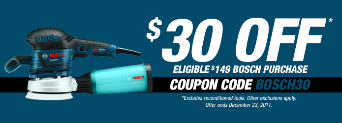 Bosch $30 Off Eligible $149 Purchase