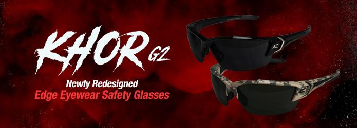 Edge Eyewear Khor G2 Safety Glasses - Newly Redesigned