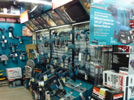 The First Floor Is Where All Of Our Tools Hand And Accessories Are On Display Shelves Stocked To