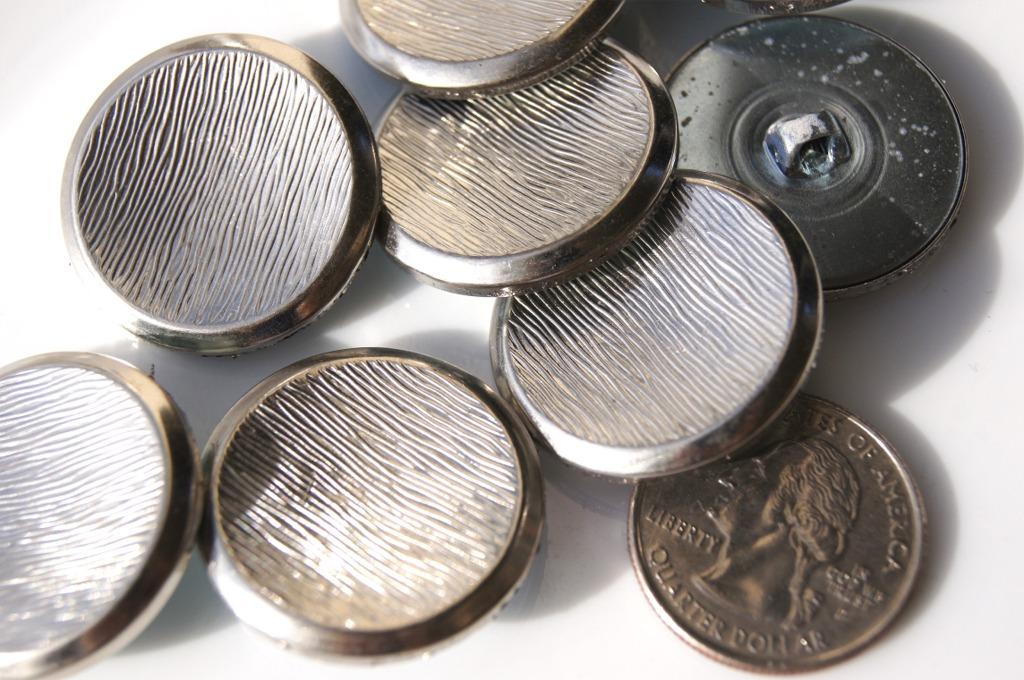 Matte Silver Metal Shank Buttons