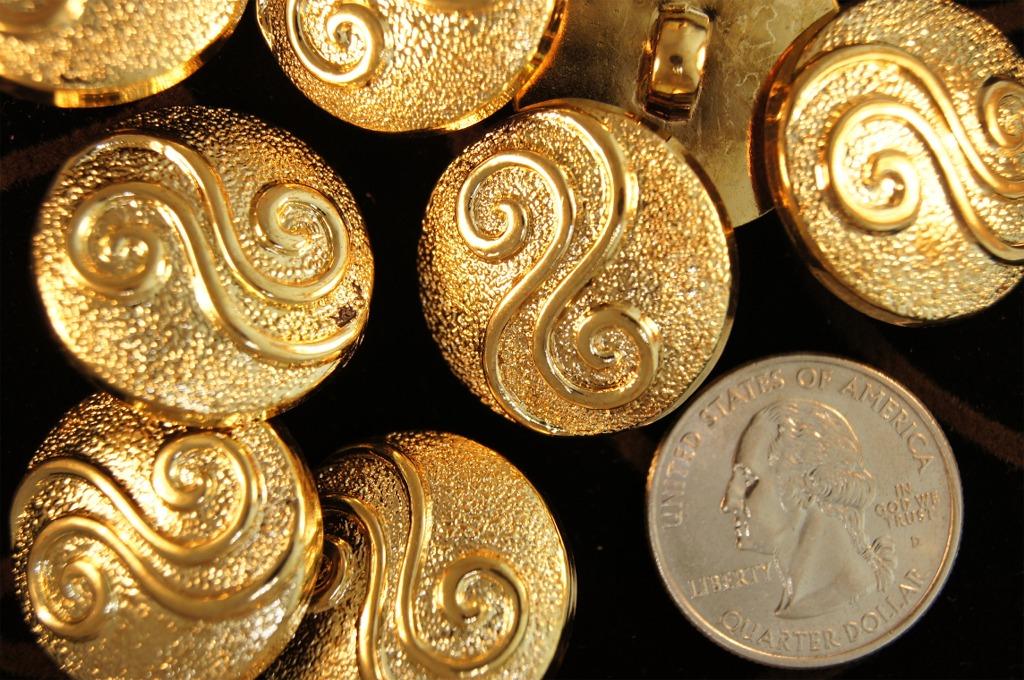 Metallic Gold Swirl Fashion Buttons