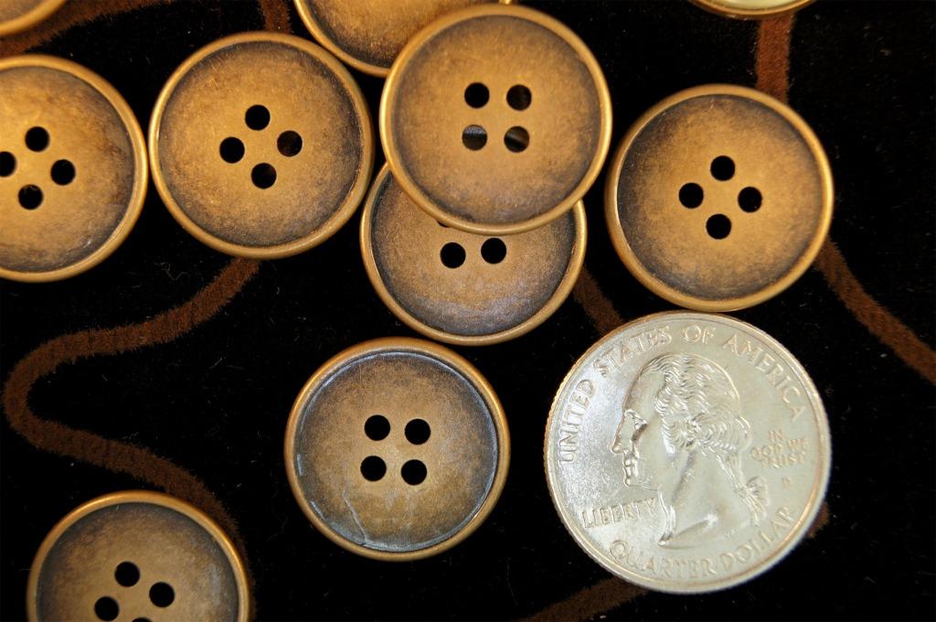 4 Hole Vintage Metal Buttons