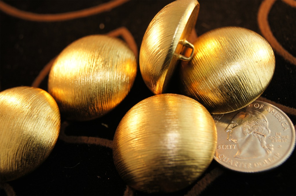 Matte Gold Metal Dome Buttons