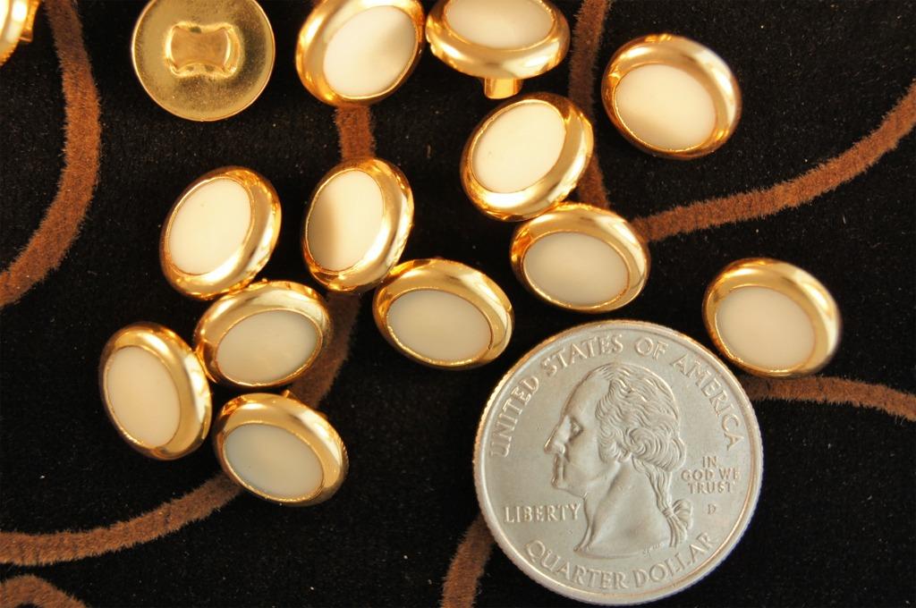 Gold Rim Shank Shirt Buttons
