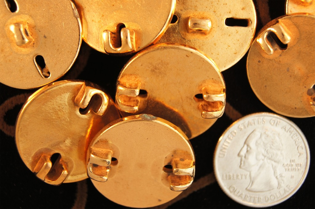 Vintage Gold Shank Buttons