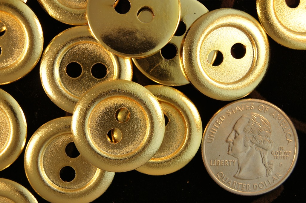 2 Hole Gold Buttons