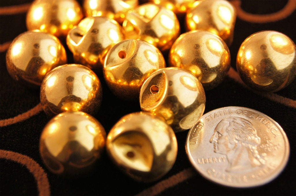Metallic Gold Dome Buttons