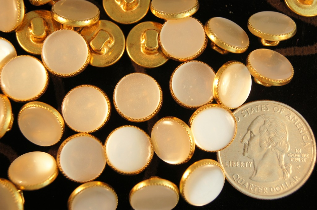 Pearl like Gold Shank Buttons