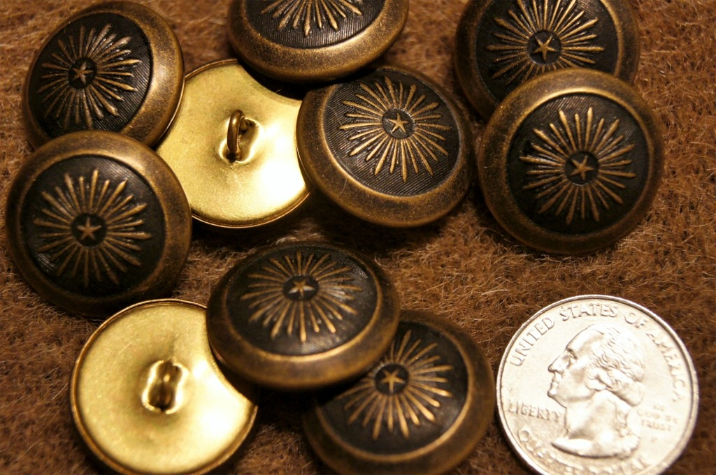 Embossed Metal Shank Buttons