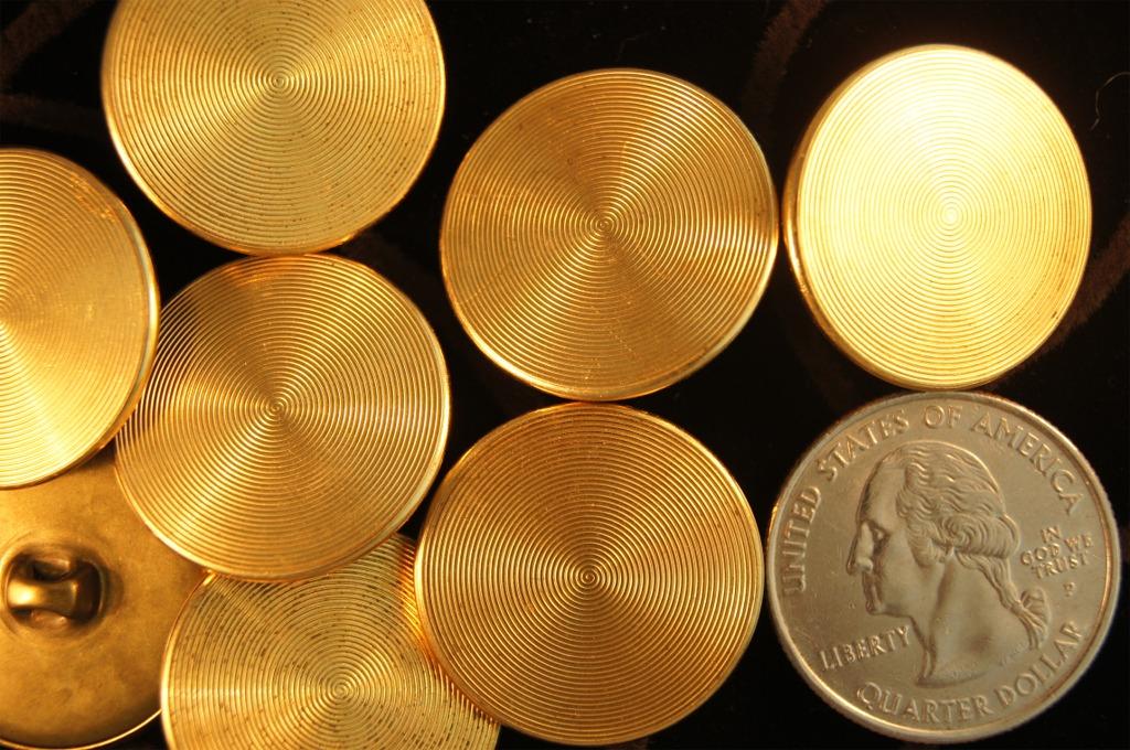 Matte Gold Metal Shank Buttons