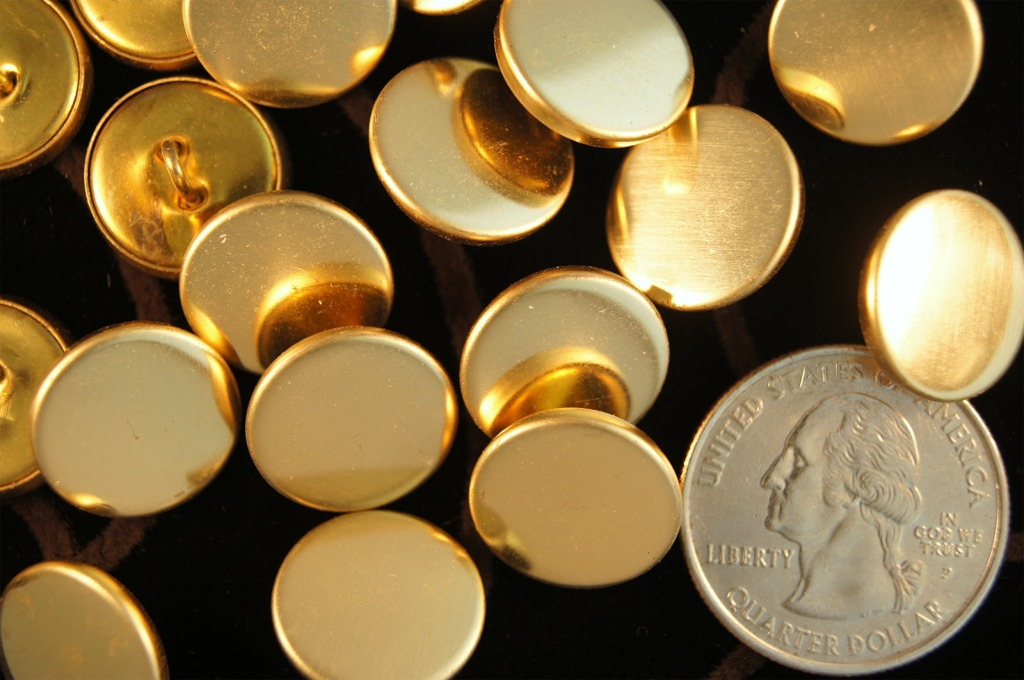 Gold Metal Shank Buttons
