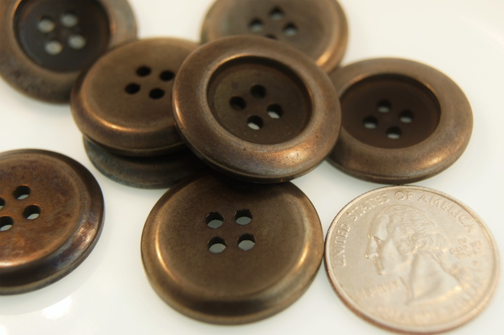 Black Silver 4 Hole Buttons