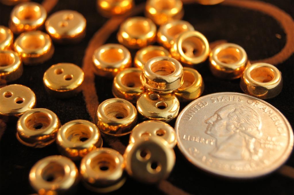 2 Hole Gold Shirt Buttons