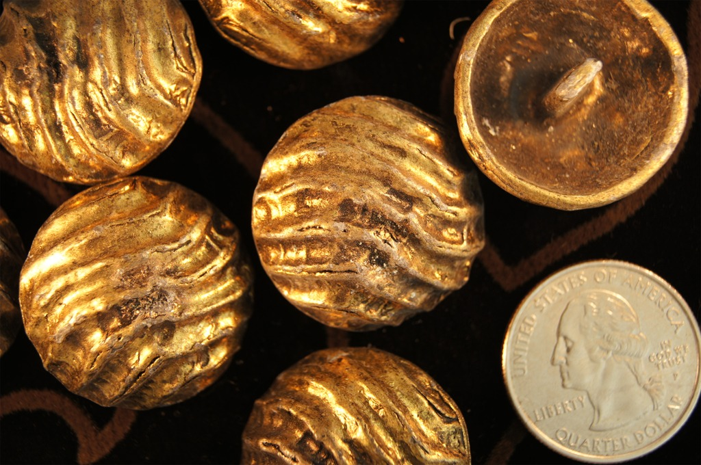 Antique Gold Shank Solid Metal Buttons