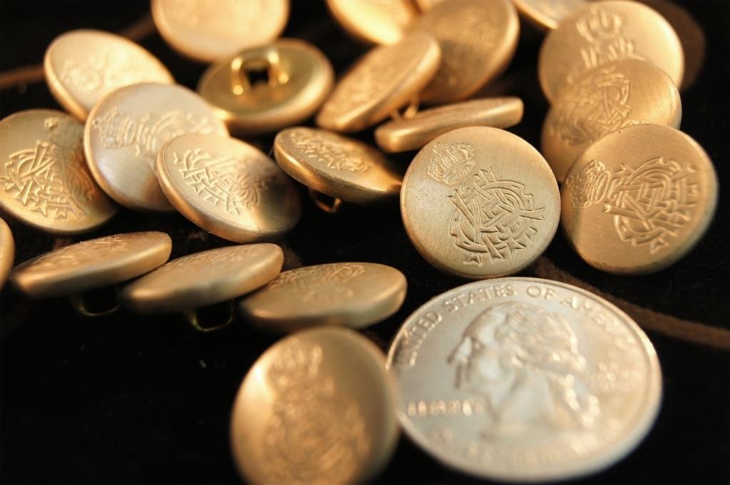 Matte Vintage Gold Metal Shank Buttons