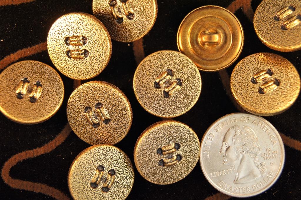 Matte Gold Metal Designer Shank Buttons