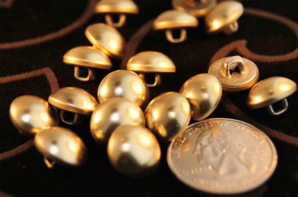 Gold Metal Shank Dome Buttons