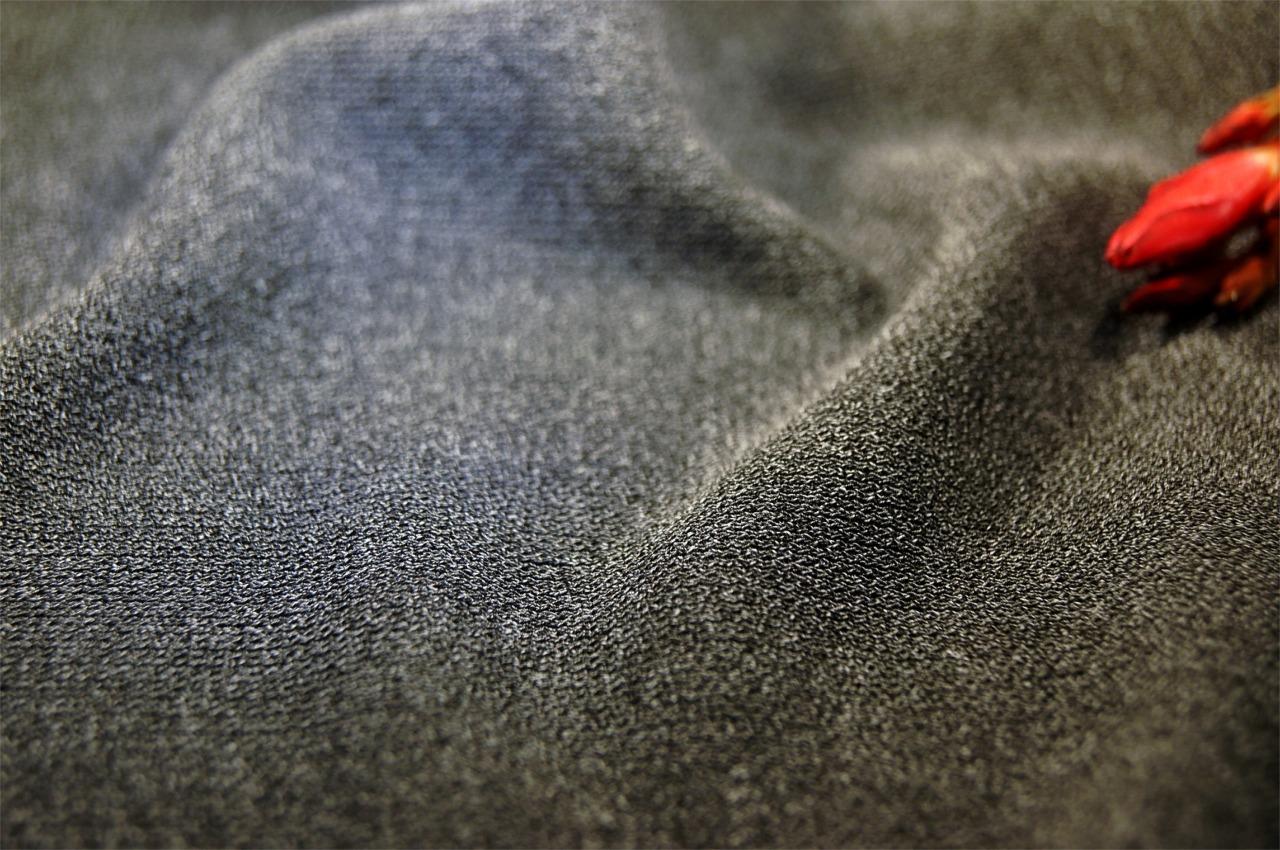 Heather Gray Matte Jersey Knit Fabric