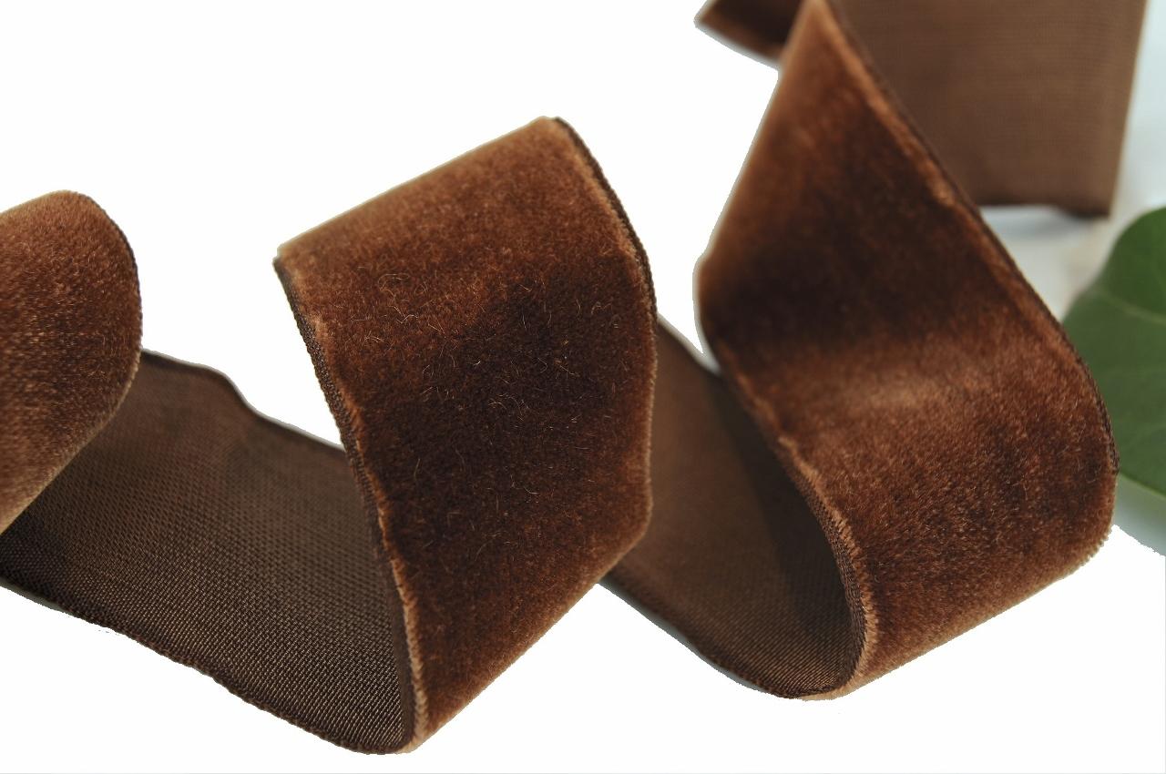 Havana Brown French Velvet Ribbon