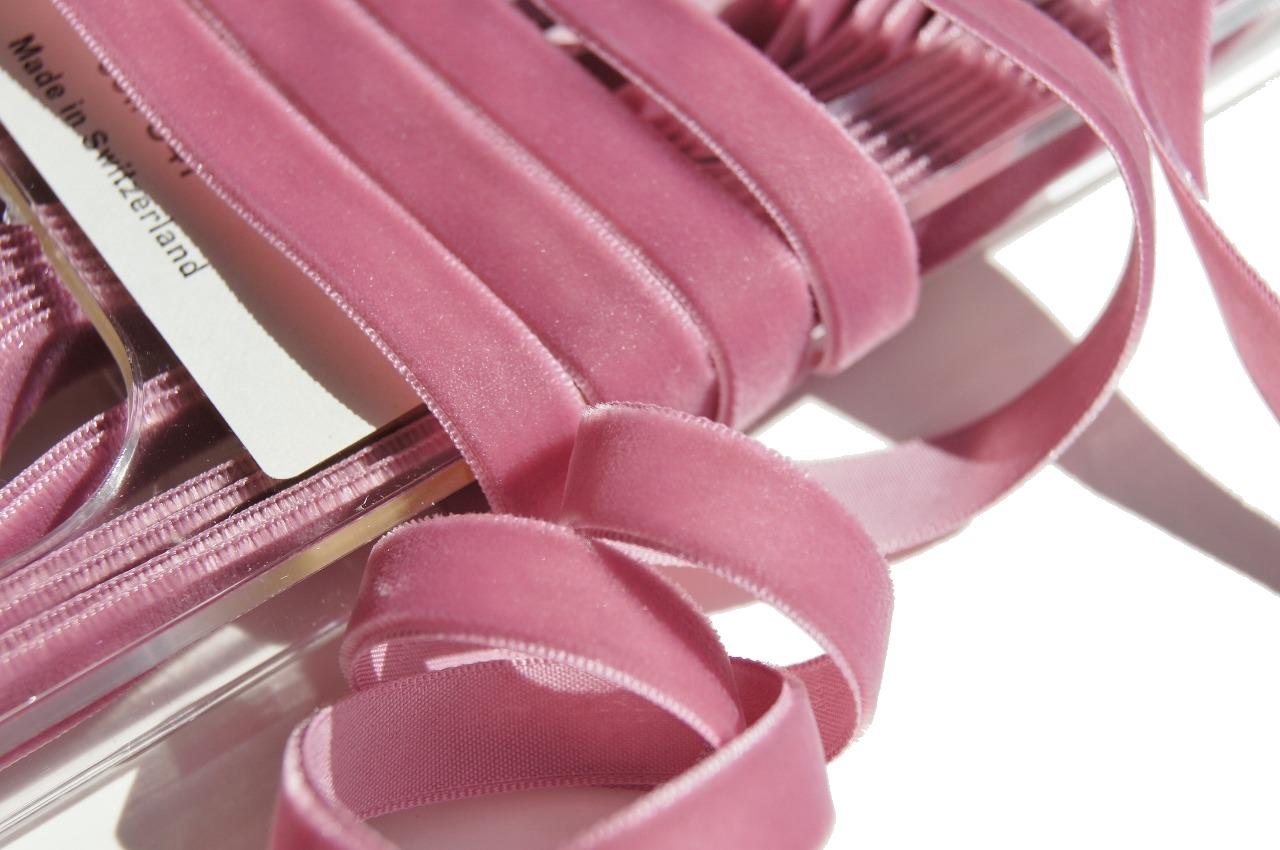 Swiss Mauve Velvet Dress Ribbon Trim