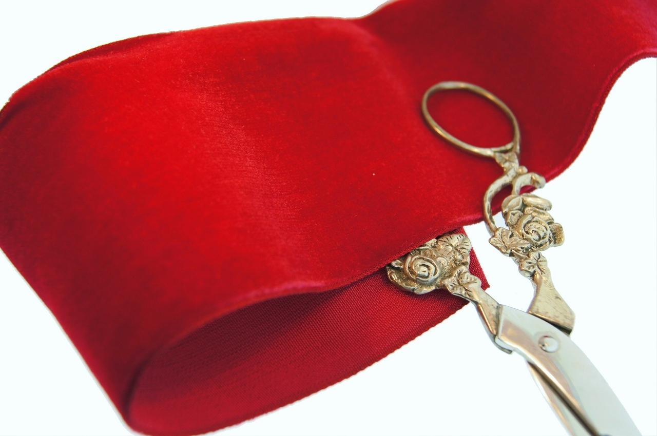 Red French Wide Velvet Ribbon