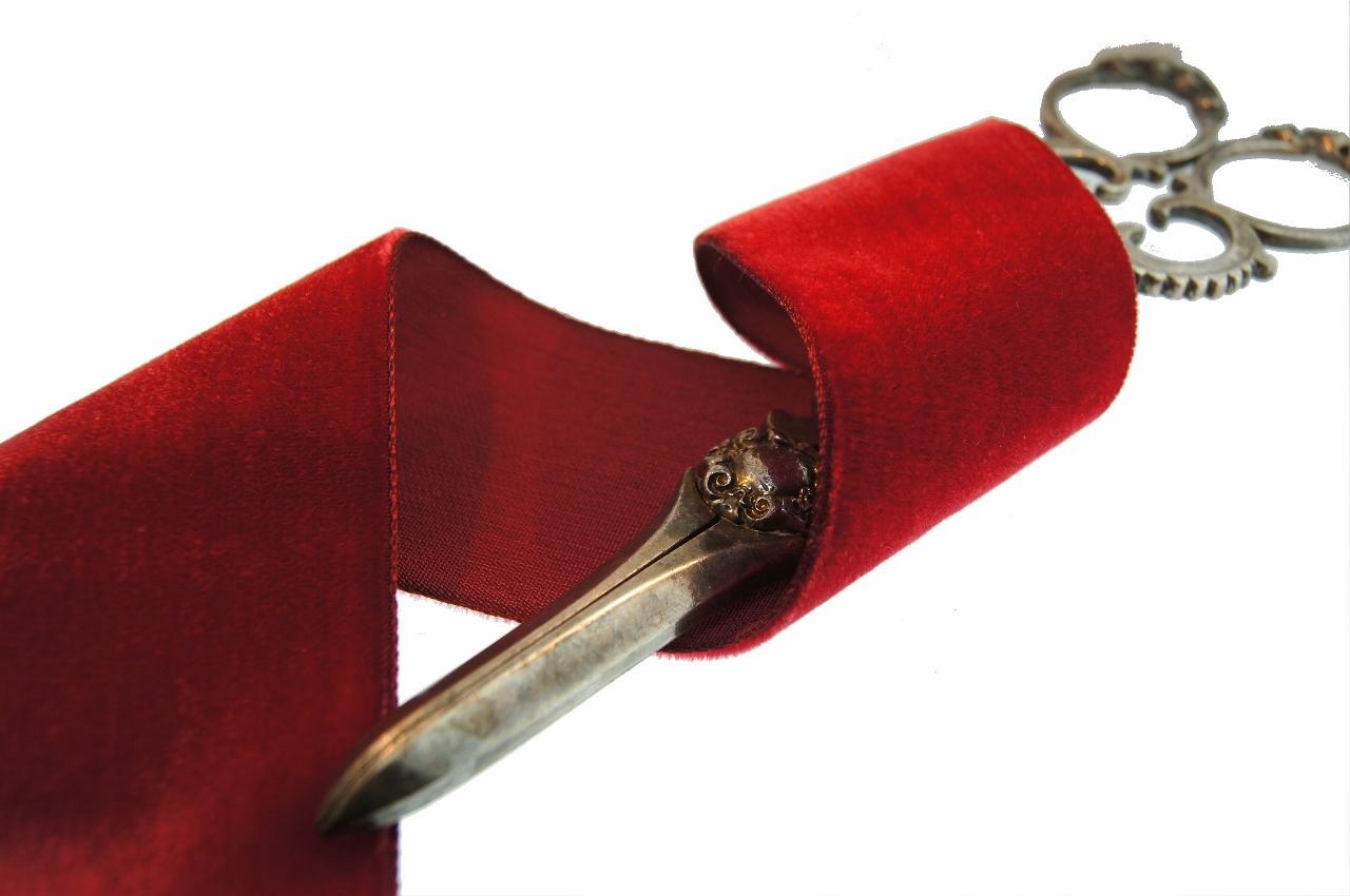 Pomegranate Red French Velvet Fabric Ribbon