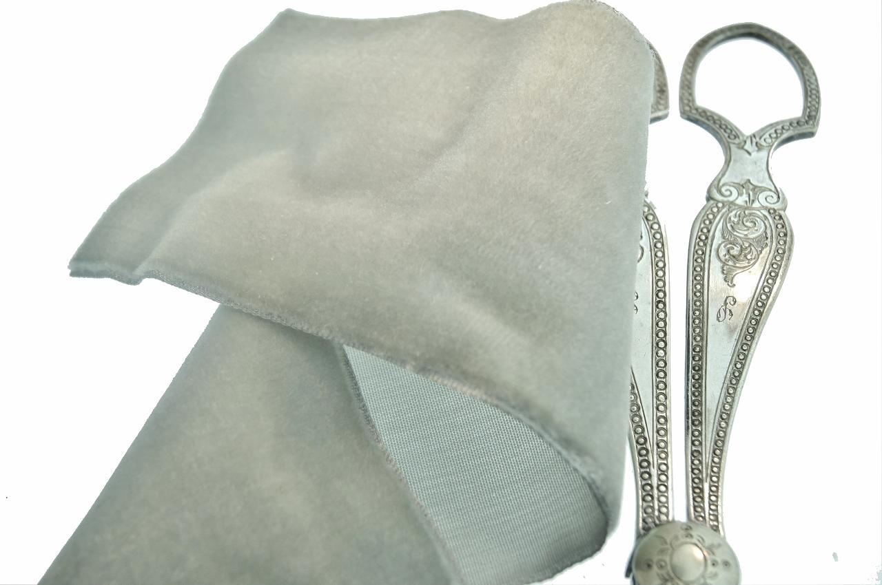 Silver French Wide Velvet Ribbon