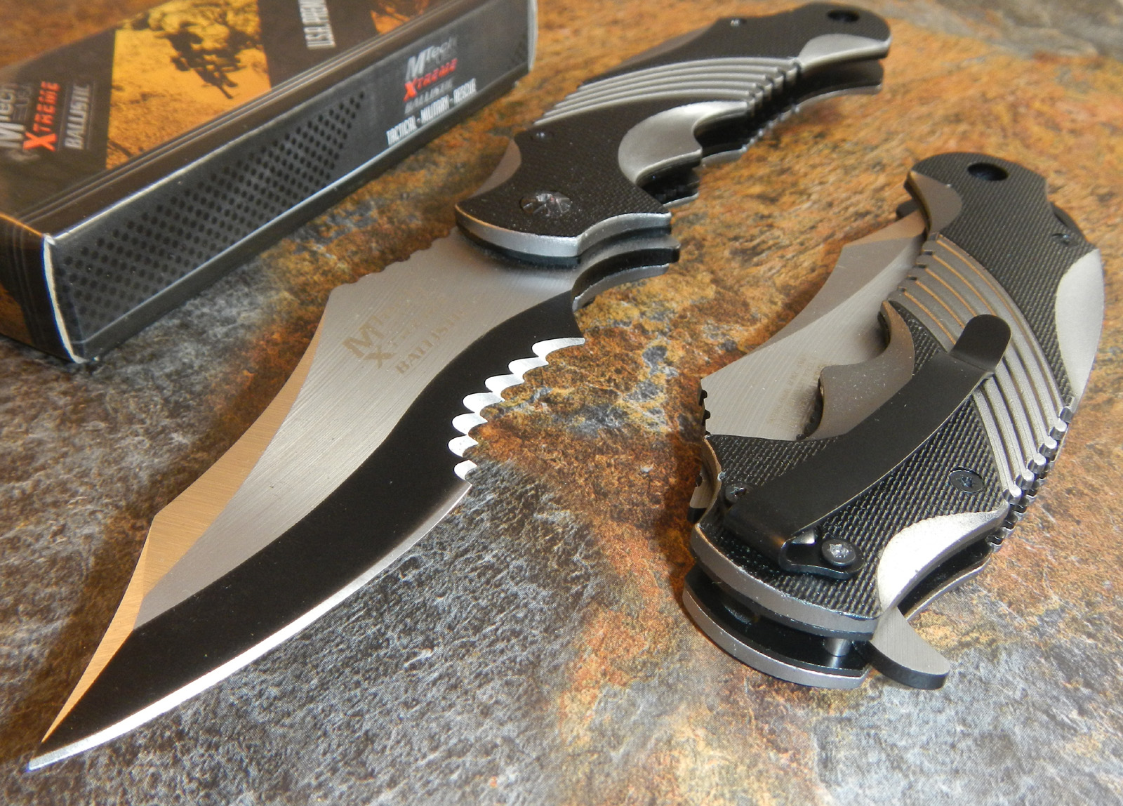 Mtech Xtreme Bowie New Spring Assisted Open Tactical