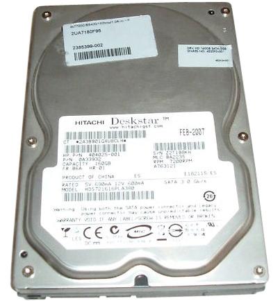 Hitachi Deskstar 0A33932 hard drive - 160GB SATA 7200RPM 8MB cache 3.5 inch