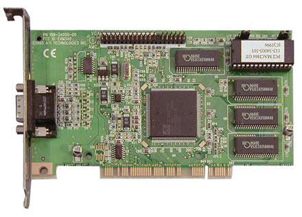 Ati 109-37900-10 Rage Ii/Ii+ 4Mb Pci Vga Tvout Ntsc
