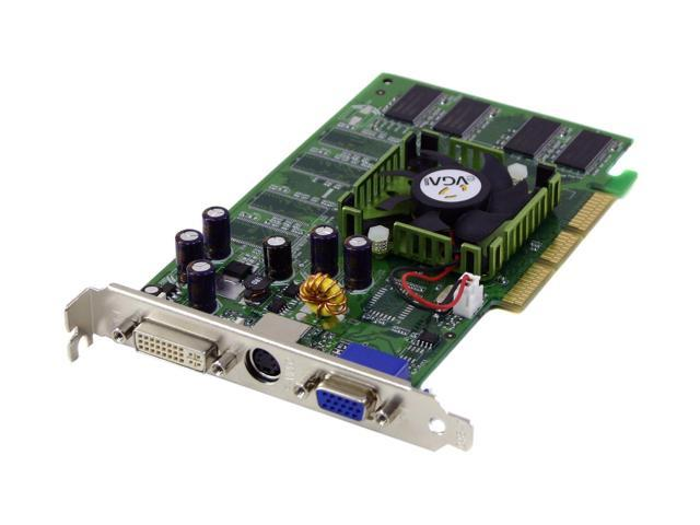 128Mb Agp Video Card With Vga S-Video And Dvi Outputs