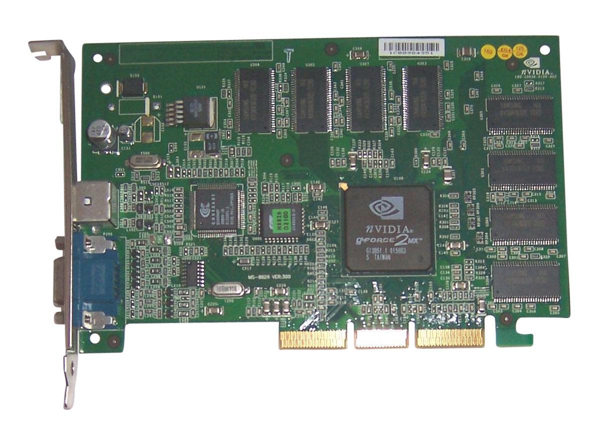 Nvidia 180-10036-0100-A02 Gforce 2 Mx Agp Video Card