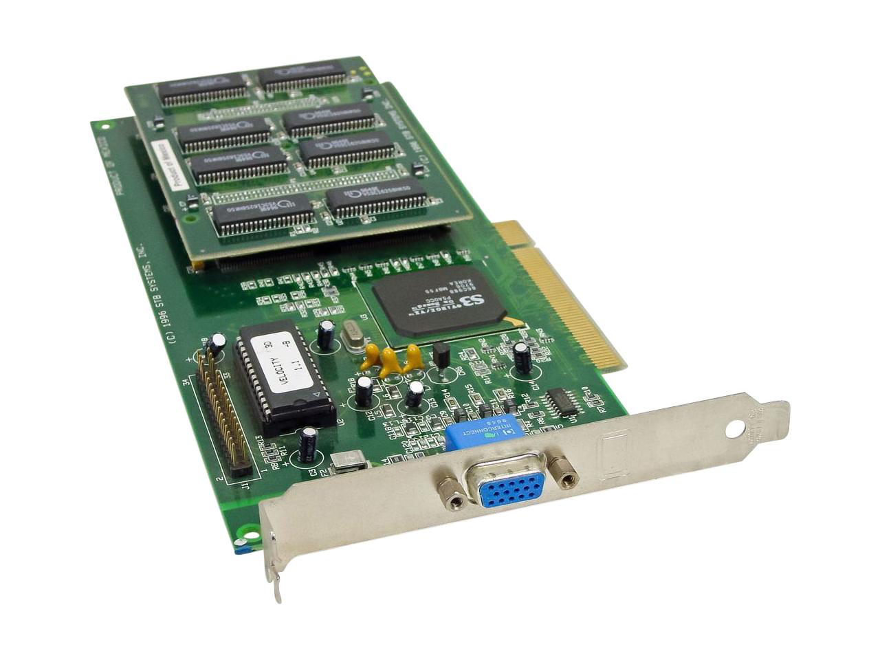 STB Velocity 1X0-0444-305 3D 1.1-B VGA Video PCI Graphics Card 210-0239-00X