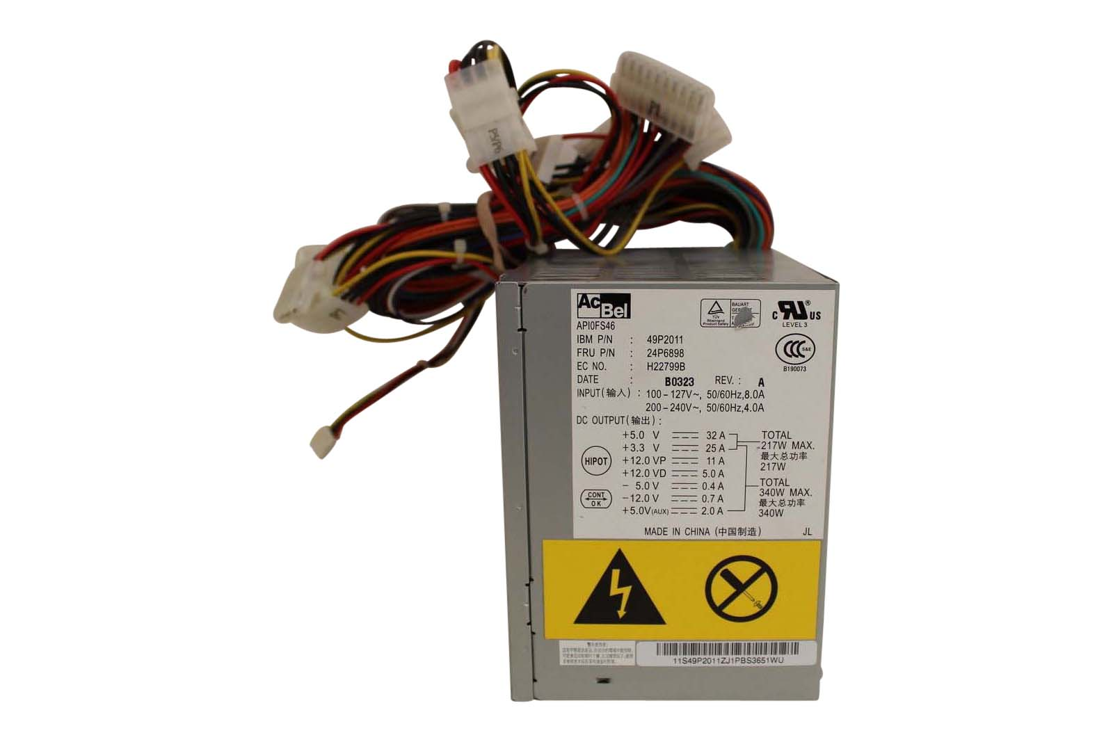 Ibm Power Supply 340W X-Series 220/205/206