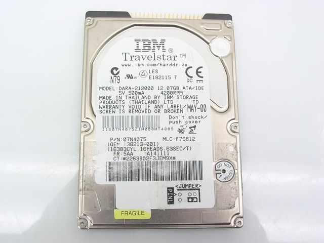 IBM 31L9800 12.07Gb Ide 2.5in